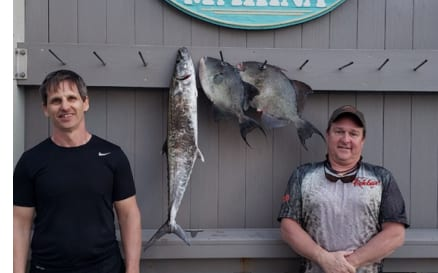 2 Anglers with Fish